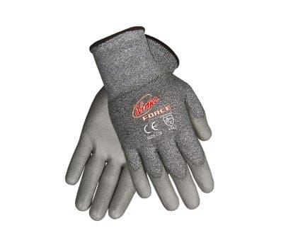 Ninja Force Polyurethane Coated Gloves, Large, Gray