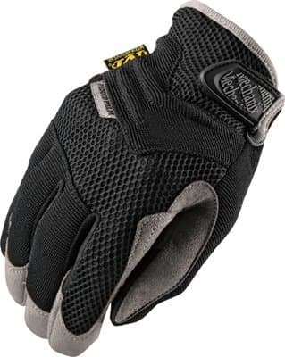 Small Black Spandex/Synthetic Leather Padded Palm Gloves
