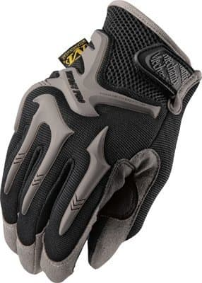 Medium Black Spandex/Synthetic Leather Impact Pro Gloves