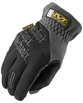 Medium Size Black Spandex/Synthetic Leather Fastfit Gloves