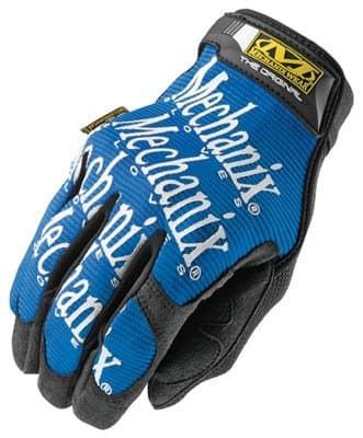 Large Blue Spandex/Synthetic Leather Original Gloves