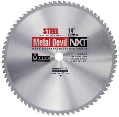 "MK Morse 14"" Metal Devil NXT Carbide-Tipped Circular Saw Blades"