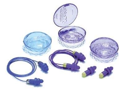 Purple Corded Rockets Reusable Earplugs