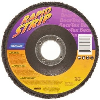 "4-1/2"" x 5/8""-11 Bear-Tex Rapid Strip Depressed Center Wheel"