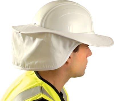White Cotton Hard Hat Sun Shade