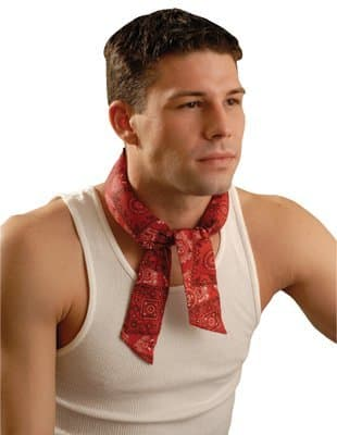 MiraCool Big Flames Bandana Tie