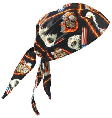 Occunomix One Size Motorcycle Tuff Nougies Deluxe Tie Hat
