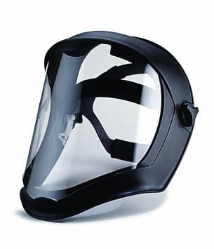Uvex Bionic Face Shield w/ Clear Polycarbonate Visor and Black Matte Shell