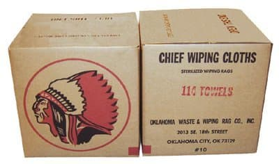 No. 1 Colored 6 To 9 Oz. Cotton Wiping Clot