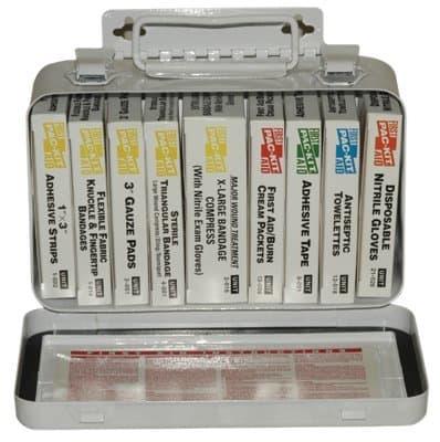 Pac-Kit 10 Unit Weatherproof Steel First Aid Kits