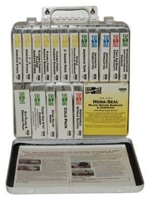 24 Unit Weatherproof Steel First Aid Kit