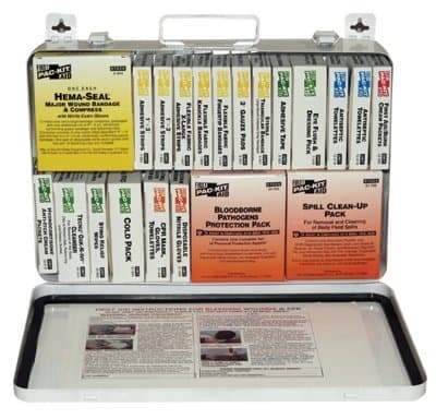 36 Unit Weatherproof Steel First Aid Kits