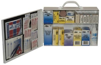 Two Shelf 100 Person Industrial First Aid Kit