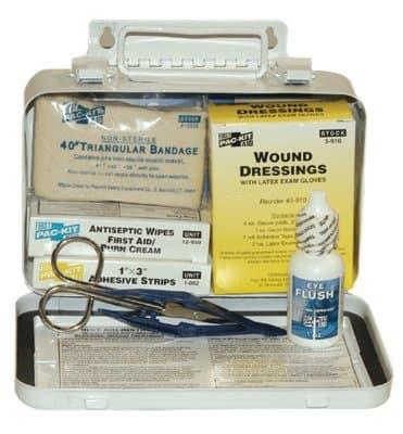 Weatherproof Steel 10 Person Vehicle First Aid Kit