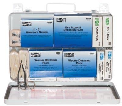50 Person Weatherproof Steel Industrial First Aid Kit