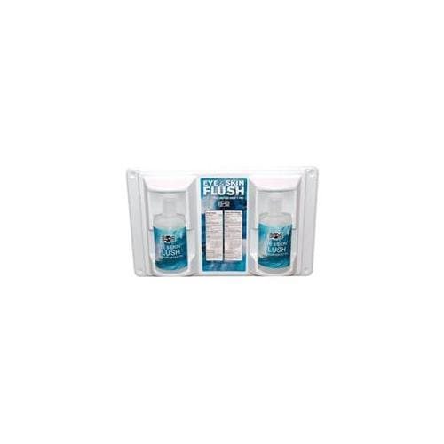 Eye and Skin Emergency Flush Station with 16 oz Replacement Bottles