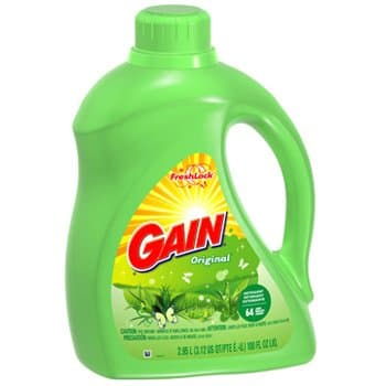 Gain 2X Ultra Concentrated Liquid Laundry Detergent Original 100 oz.