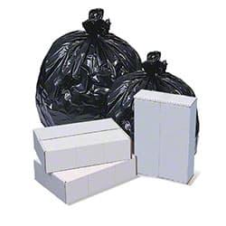 Pitt Pitt Plastics 8 Micron High Density Black Can Liner 12-16 Gallons