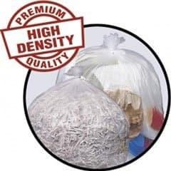 Pitt Pitt Plastics High-Density 14 Micron 40-45 Gallon Mini-Roll Liners Clear