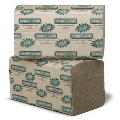 Natural, 250 Count Singlefold Paper Towels-9.3 x 10.5