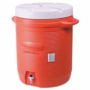 Rubbermaid Orange 10 Gallon Cooler
