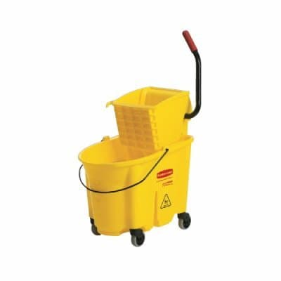 Rubbermaid 35 qt. WaveBrake Yellow Mopping Bucket and Wringer