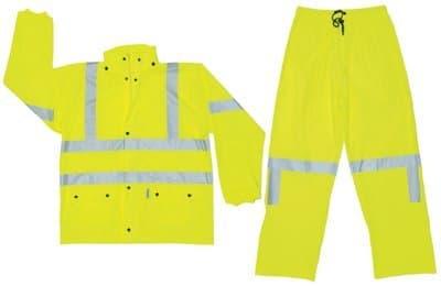2XL Fluorescent Lime Luminator Class III Rain Suits