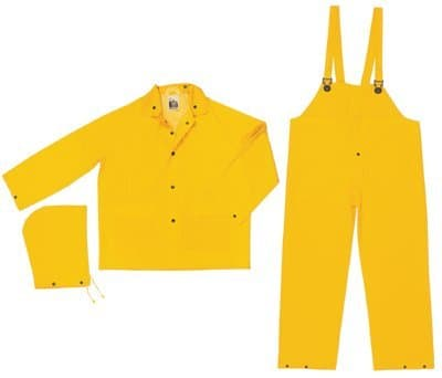 2 Xlarge Yellow Classic 3-Piece Flame Resistant Rain Suits