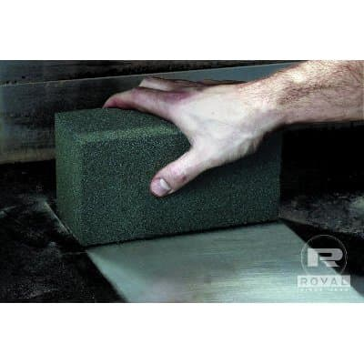 Dark Gray Scratch Free Griddle Grill Block Scouring Pad