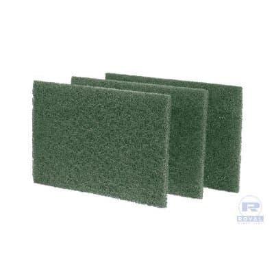 Green, 10 Count Medium-Duty Scouring Pad-6 x 9