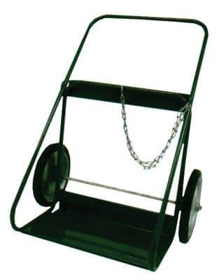 Green Steel 400 Series Cart with Semi-Pneumatic Wheels