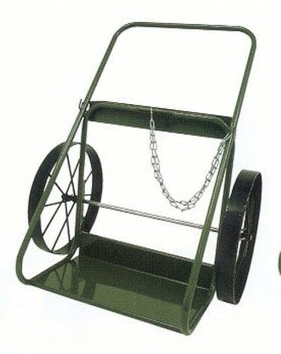 "2 3/4"" Green Steel Utility Cart"