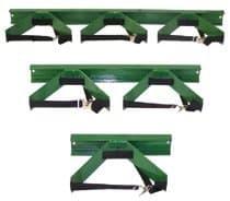 Green Steel Wall Cylinders Brackets