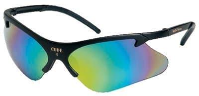 Black Frame Smoke Lens Code 4 Safety Glasses