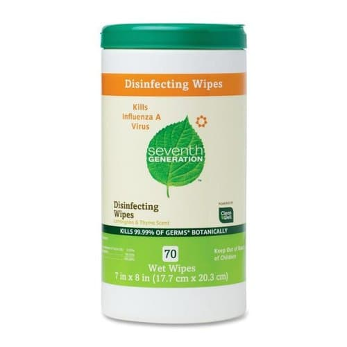 7th Generation Disinfecting and Cleaning Wipes, 8-in x 7-in, White