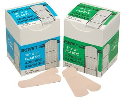 "1"" X 3"" Plastic Strips Adhesive Bandages"