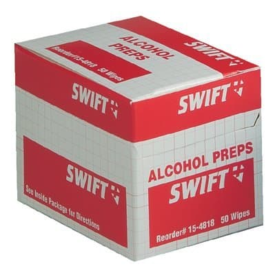 Swift First-Aid 70 Percent Isopropyl Alcohol Wipes