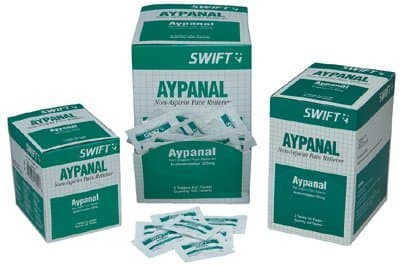 Swift First-Aid Acetaminophen 325mg Aypanal Non-Aspirin Pain Relievers