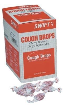 Cherry Flavor Cough Drops 100 per box
