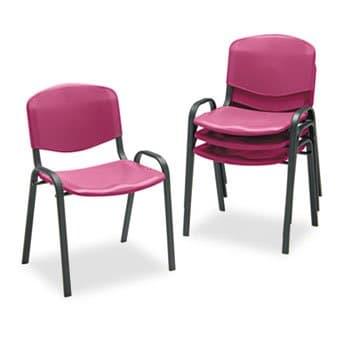 Burgundy Stacking Chairs