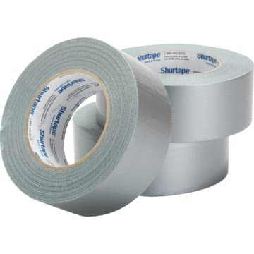 """Shurtape 2"""" x 60 yd, 9 mil, Silver General Purpose Duct Tape"""