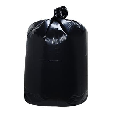Black, 10 Gallon 1 Mil Low-Density Can Liners-24 x 23