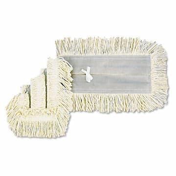 White, Cotton/Synthetic Blend Disposable Dust Mop Head-18 x 5