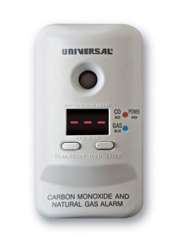 USI 120V Plug-In Carbon Monoxide & Natural Gas Alarm w/ LED Display