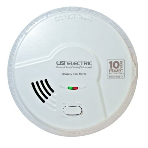 USI Hardwired 2-in-1 Universal Smoke & Fire Sensing Smart Alarm