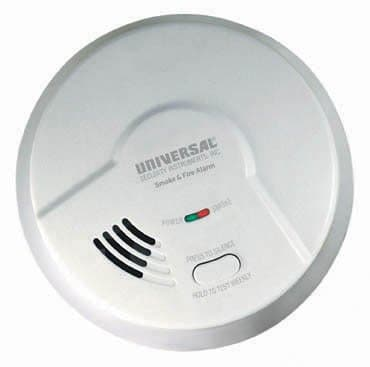 9V Battery Operated Ionization Smoke and Fire Alarm