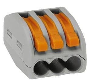 Wago 3 Port Lever Nut Connector
