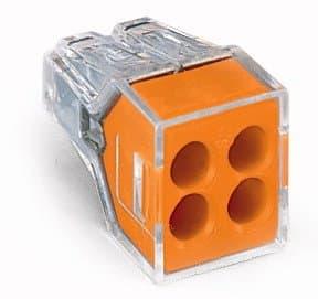 Wago Orange 4-Port Pushwire Connectors