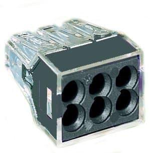 Wago Black 6-Port Pushwire Connectors