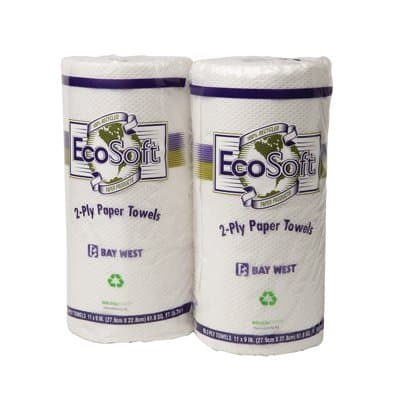 Wausau EcoSoft Household Roll Towels, White